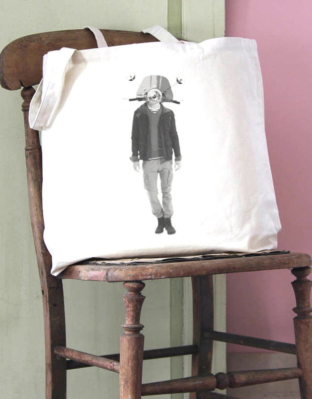 Scooter Head 2 Cotton Tote Bag