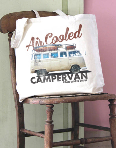 Air Cooled Camper Cotton Tote Bag