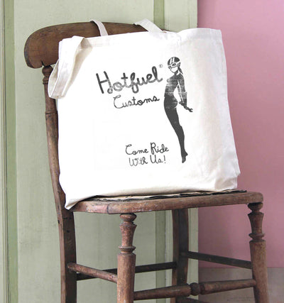 Hotfuel Customs Come Ride Cotton Tote Bag