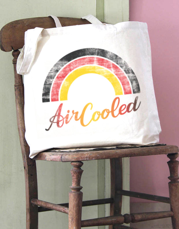 Air Cooled Rainbow Cotton Tote Bag