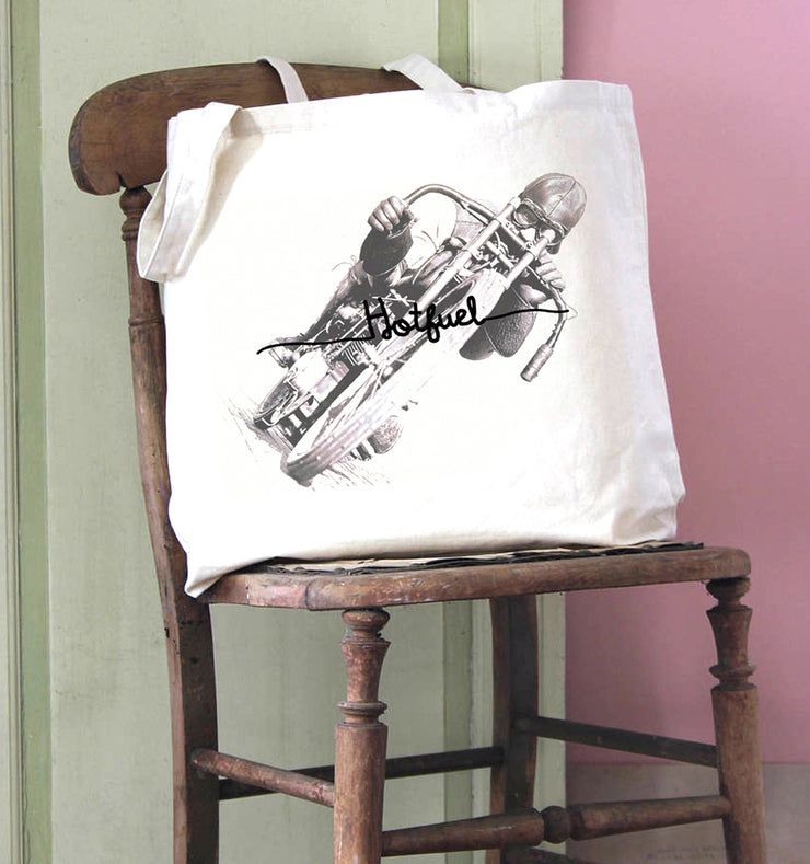 Hotfuel Wall of Death Rider Cotton Tote Bag