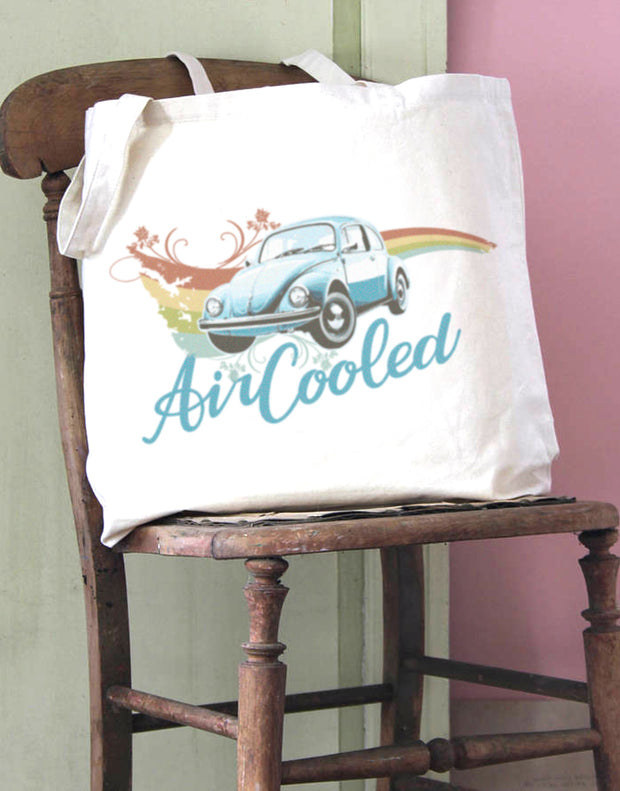 Air Cooled Beetle Swirl Cotton Tote Bag
