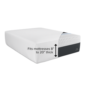 "Fits mattresses 8"" to 20"" thick"