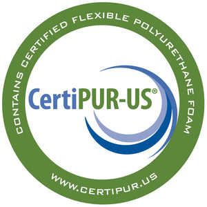 CertiPUR-US  Contains certified flexible polyurethane foam. Learn more at www.certipur.us