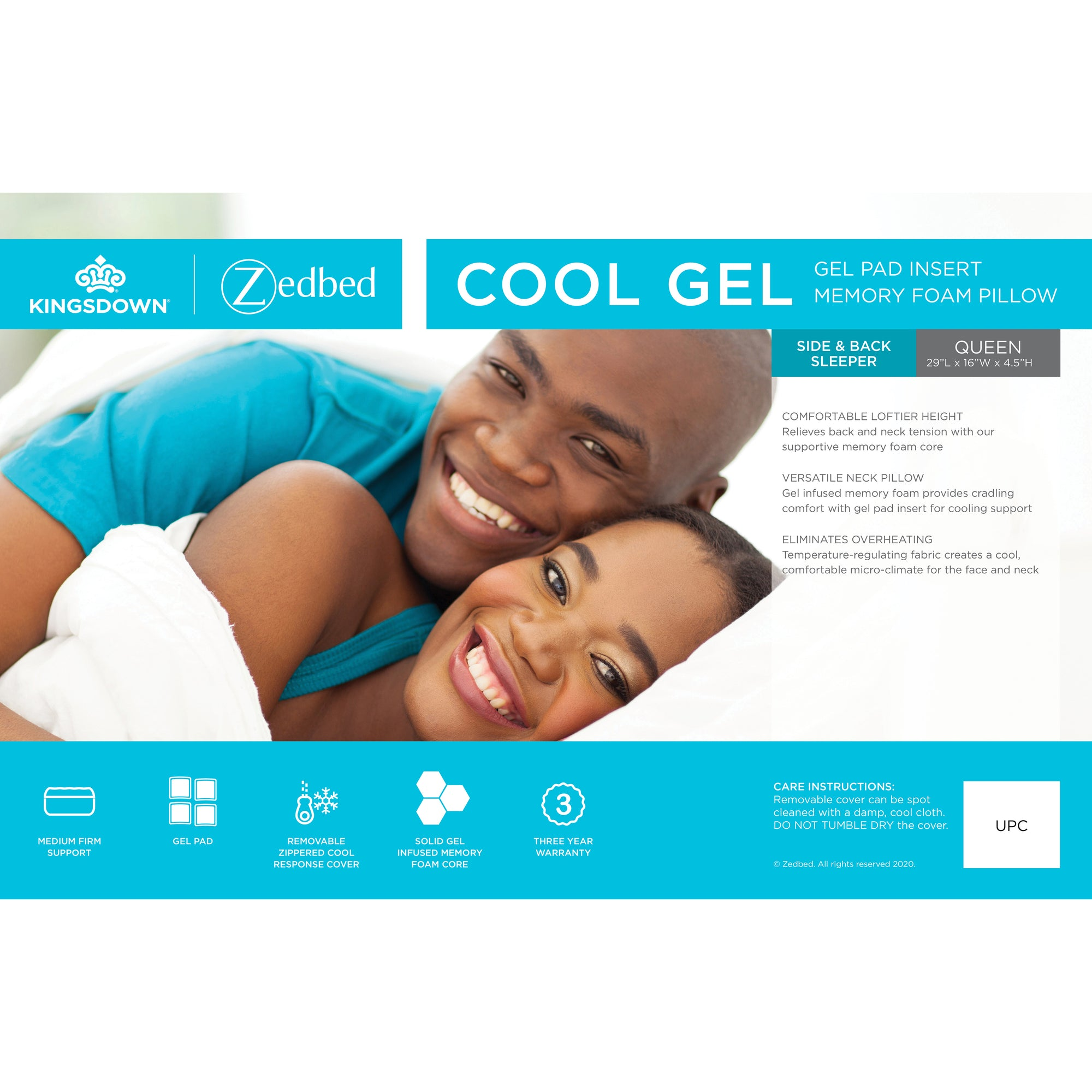 Cool Gel Infused Memory Foam Pillow