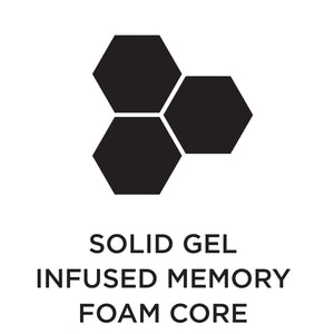 Solid Gel Infused Memory Foam core