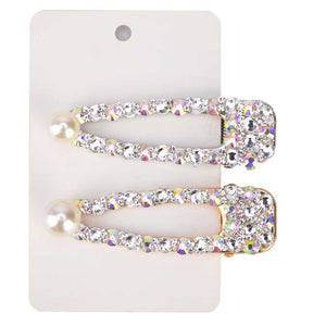 Rhinestone Hair Clips - Leux Belle