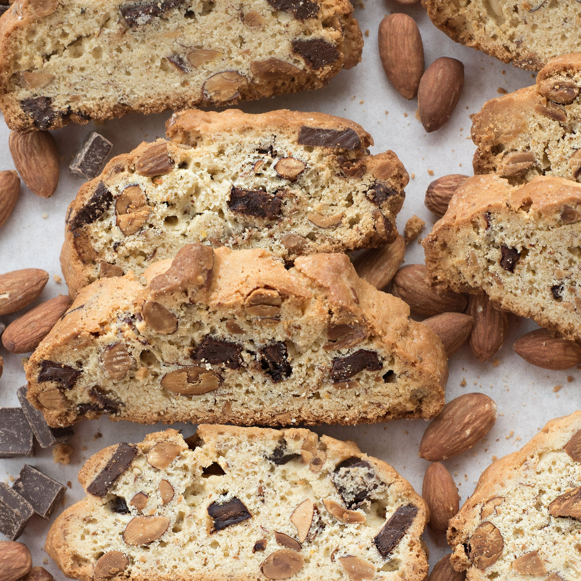 Biscotti with Chocolate and Toasted Almonds