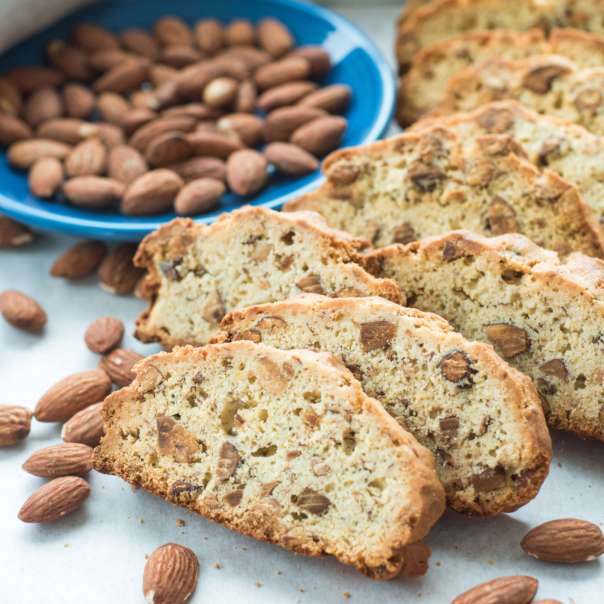 Biscotti with Toasted Almonds
