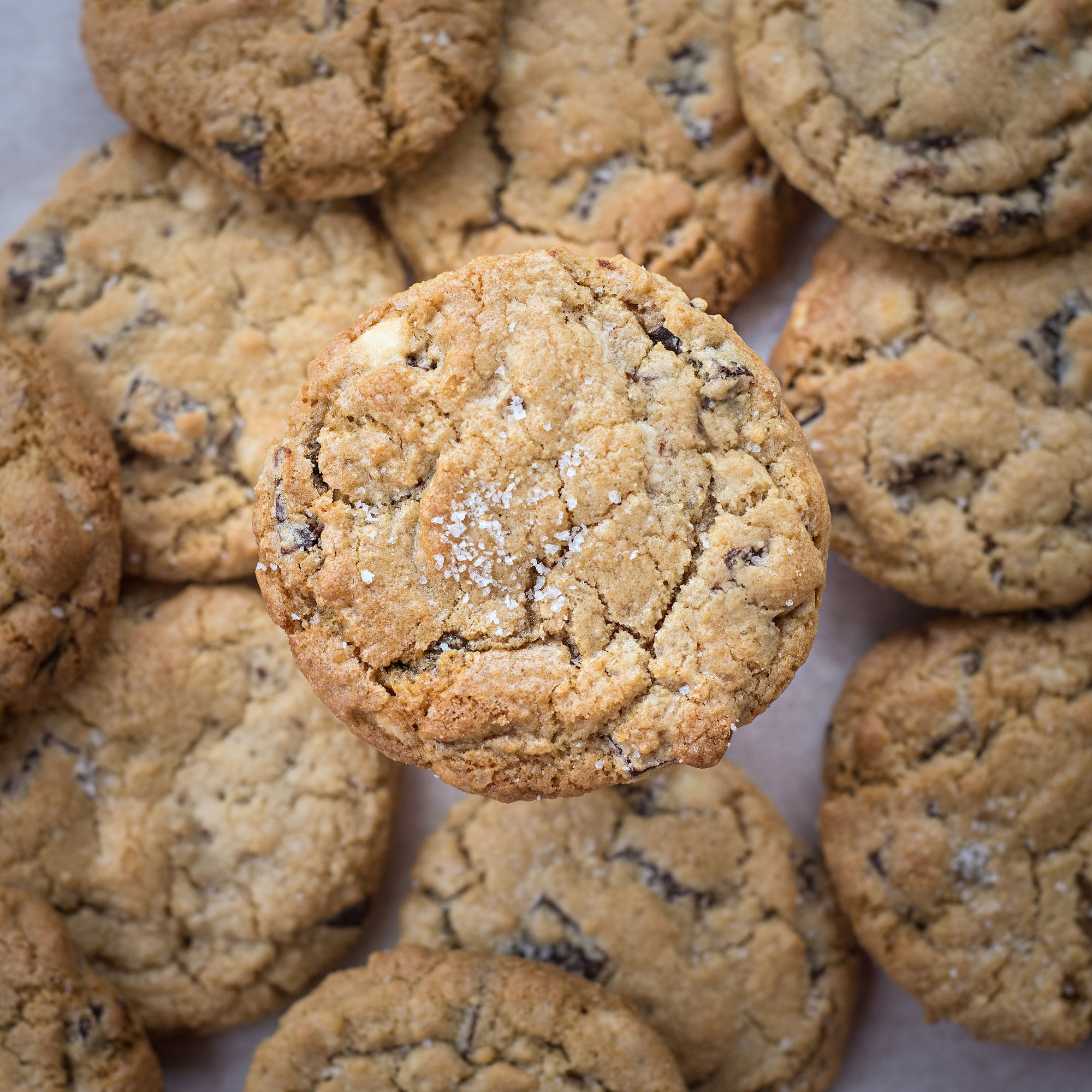 Salted Chocolate Chunk Cookies