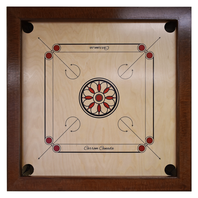 African Sapele & Walnut Carrom Board - Children's Size - Carrom Canada