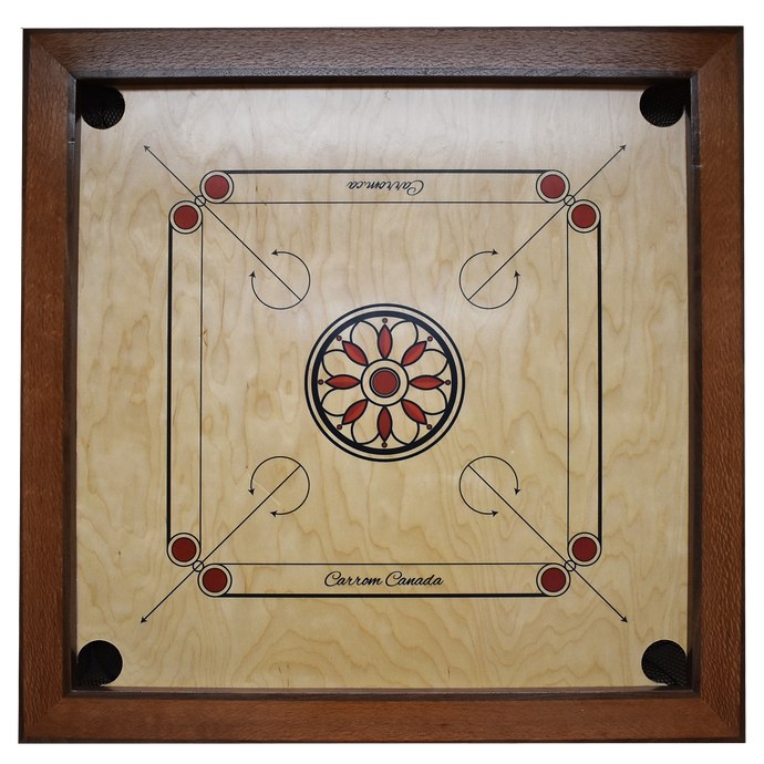 Australian Lacewood & Walnut Carrom Board - Children's Size - Carrom Canada