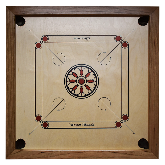 Cherry Carrom Board - Children's Size - Carrom Canada