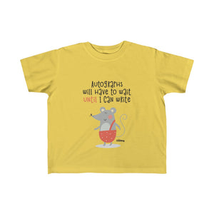 Until I Can Write Kid's Fine Jersey Tee