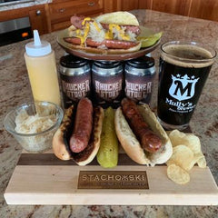 O' Shucks Beer Brat (Mully's Shucker Stout Infused - Fully Cooked)