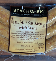 Rabbit Sausage with Wine (Fresh)