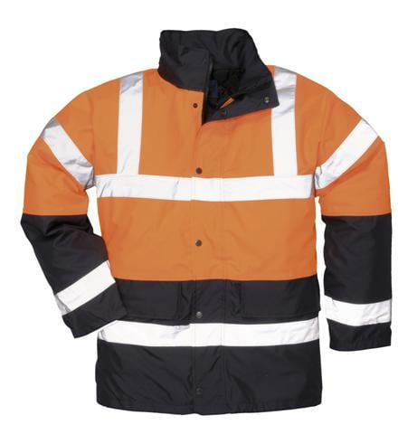 Hi-Vis Waterproof Jacket - Two Tone