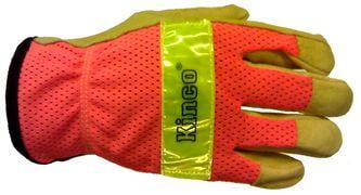 Kinco® 909 Pigskin Mesh Back Glove with Reflective Knuckle