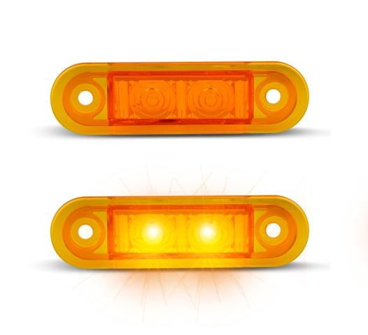 Compact LED SIDE (Kelsa) Marker Lamps (Amber)