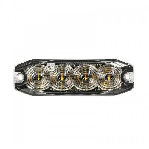 LED Directional Warning Light R65 Low-Profile 4 LED Amber