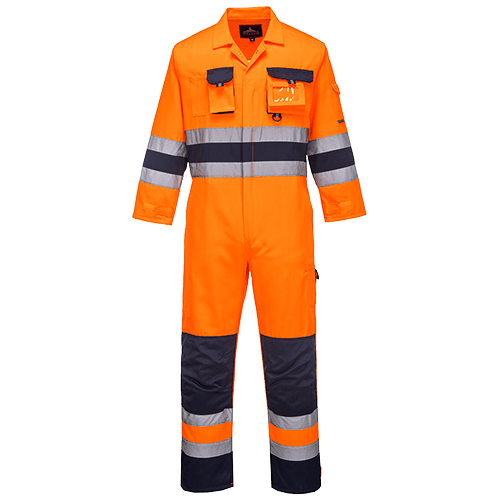 Texo Hi-Viz Orange/Navy Overalls