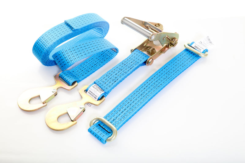 Vehicle Tie-down 5T Strap set with Flat Snap Hooks