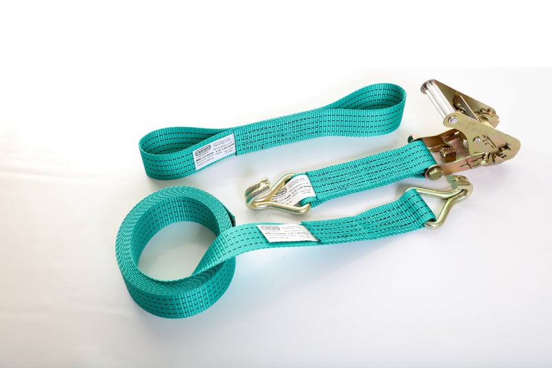 2.5 tonne Car Tie-down Strap set with Claw Hooks