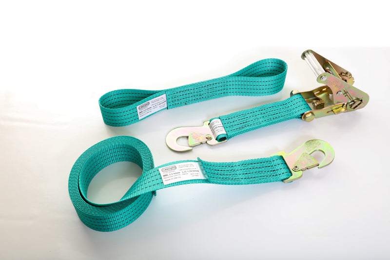 2.5 tonne Car Tie-down Strap set with Flat Snap Hooks