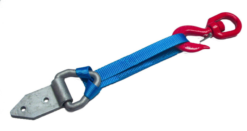 Winch Rope Tensioning Strap - action