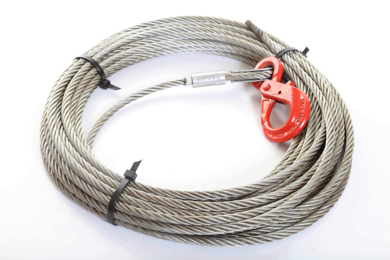 Winch Rope with Auto-Locking Hook