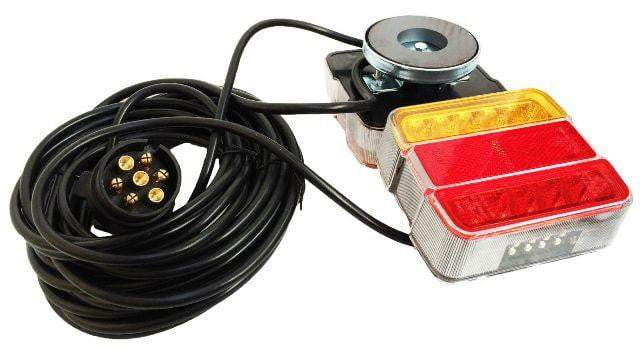 LED Towing Lights 12/24v magnetic c/w 10m lead and magnet covers
