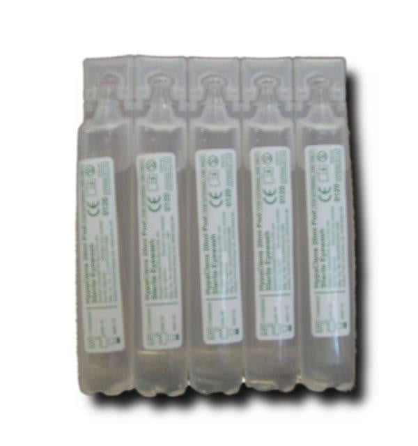 Eye Wash - strip of 5 x 20ml pods