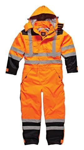 Dickies Waterproof Hi-Vis Safety Coverall