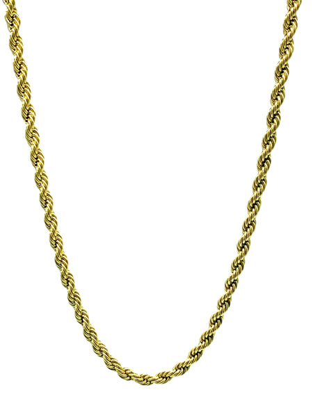 Gold Stainless Steel Rope Chain FREE & FAST SHIPPING  (US Only)