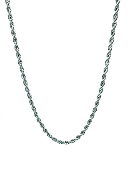 Stainless Steel Silver Rope Chain Necklace Men Women 2mm to 8mm  FREE & FAST SHIPPING (US only)
