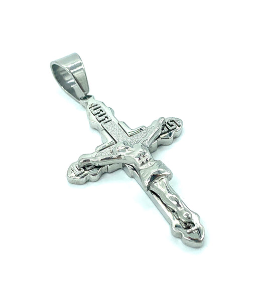 2 Inch Long Diamond Cut Cross Pendant High Polish Stainless Steel Men/Women FREE & FAST SHIPPING (US Only)