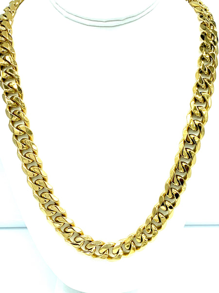 Gold Cuban link set ( Chain + Bracelet ) FREE & FAST SHIPPING (US Only)