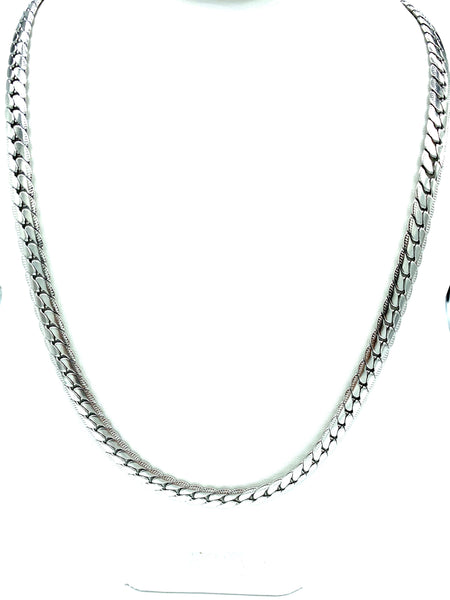 24 inch Silver/Gold Men/Women Stainless Steel Flat Chain FREE & FAST SHIPPING (US Only)