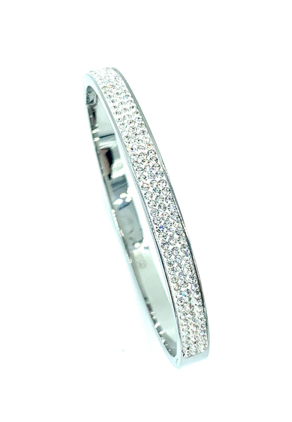 High Polish Stainless Steel Bangle CZ Diamond Men/Women's FREE & FAST SHIPPING (US Only)