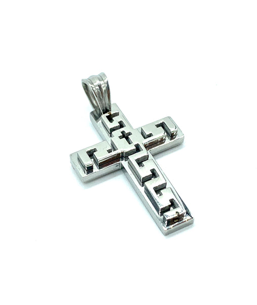 1.2 Inch Long Cross Pendant High Polish Stainless Steel Men/Women FREE & FAST SHIPPING (US Only)