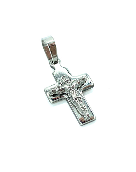 1 Inch Long Cross Pendant High Polish Stainless Steel Men/Women FREE & FAST SHIPPING (US Only)