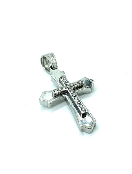 1.1 Inch Long Cross Pendant High Polish Stainless Steel Men/Women FREE & FAST SHIPPING (US Only)