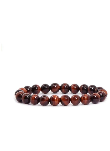 Natural Stone Red Tiger Eye Bracelet  FREE & FAST SHIPPING (US only)