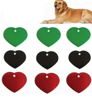Large Heart Custom Engraved Heart Dog Tag Pet ID Tag Double Sided Personalized FREE & FAST SHIPPING (US Only)