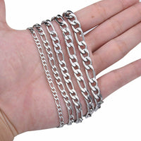 Figaro Chain Necklace 4-8.5mm Stainless Steel Link Chain  FREE & FAST SHIPPING (US Only)