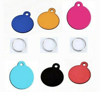 Large Round pet ID Tags Custom Engraved Dog/Cat Personalized ID Tag Key Chain FREE & FAST SHIPPING (US Only)
