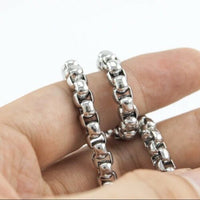 Stainless Steel Silver Box Necklace Chain 14-36mm Men Women FREE & FAST SHIPPING (US  (US Only))