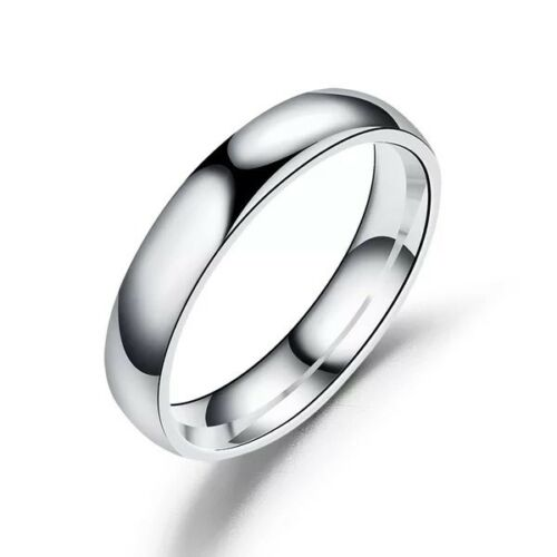 4mm High Polished Stainless Steel Men/Women Engagement Rings FREE & FAST SHIPPING (US Only)