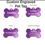 Large Bone Custom Engraved Dog Tag Pet Bone ID Identification Double Sided Personalized FREE & FAST SHIPPING