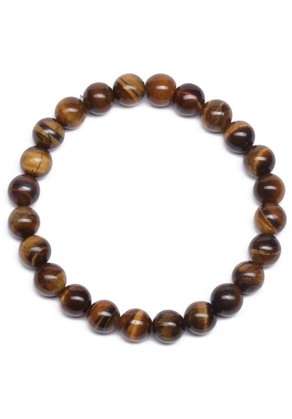 Beads Bracelet Natural Tiger Eye Stone  FREE & FAST SHIPPING (US Only)